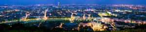 Vue de Lyon la Nuit en Panoramique