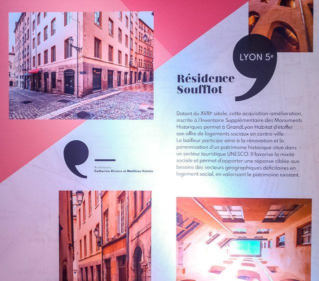Panneaux Résidences Grand Lyon Habitat à l'occasion des 100 ans