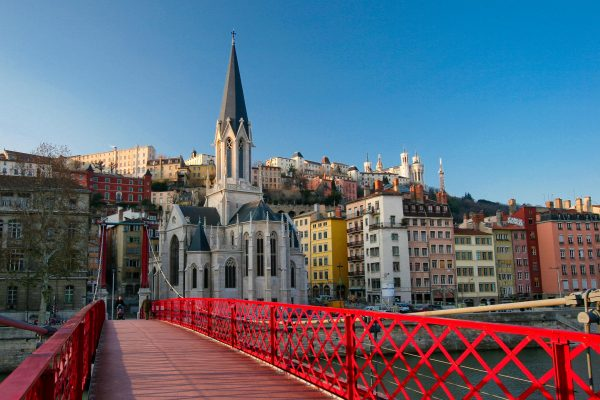 Lyon, France and one of its bridges